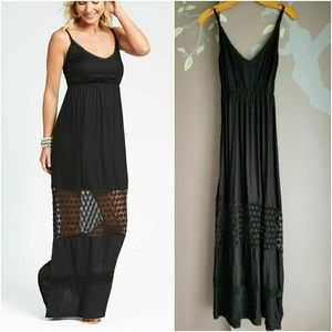 Tiare Hawaii crochet detail maxi dress, nwot